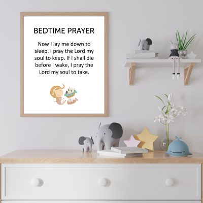 Bedtime prayer now I lay me down to sleep