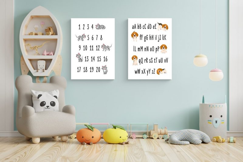 Alphabet and numbers image for kids